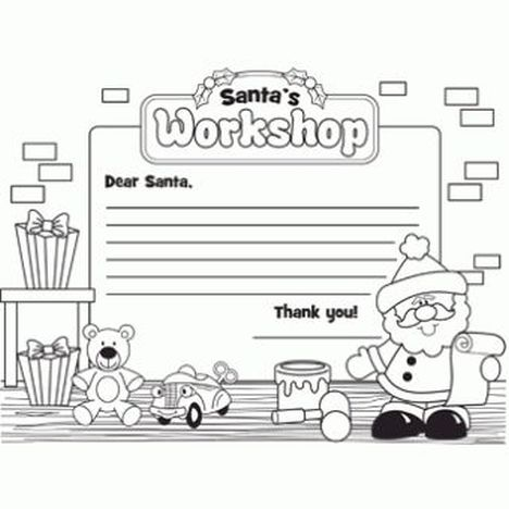 Letter To Santa Coloring Page 1