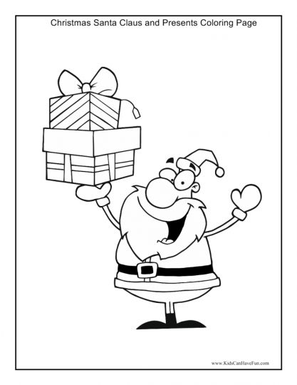 Letter To Santa Coloring Page 11