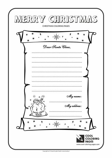 Letter To Santa Coloring Page 15