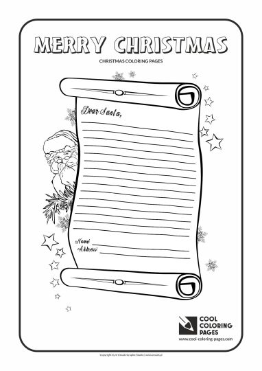 Letter To Santa Coloring Page 16