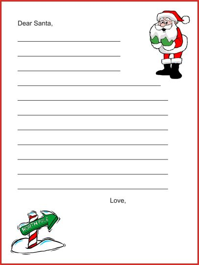 Letter To Santa Coloring Page 18