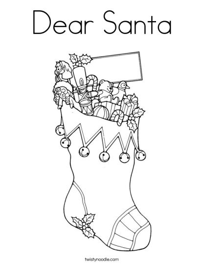Letter To Santa Coloring Page 19