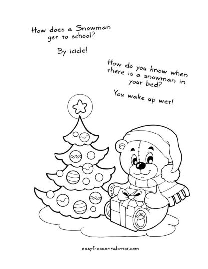 Letter To Santa Coloring Page 2