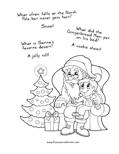 Letter To Santa Coloring Page 21