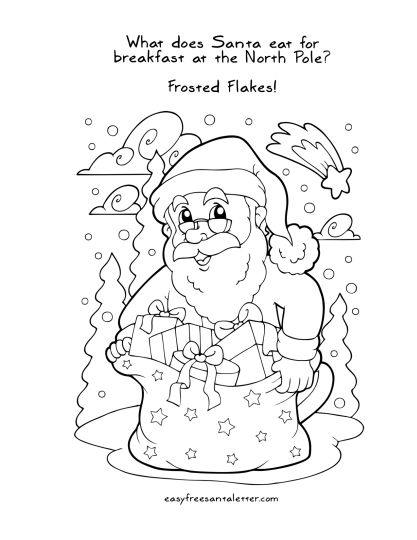 Letter To Santa Coloring Page 22
