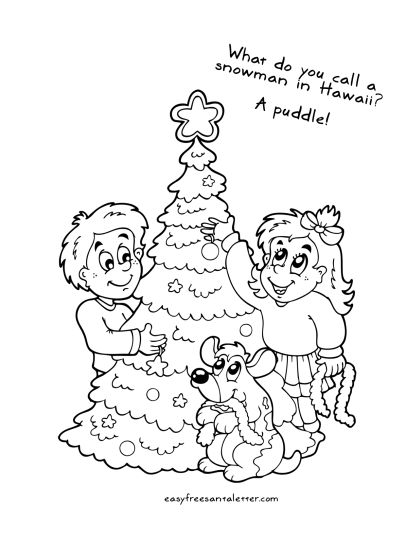 Letter To Santa Coloring Page 23