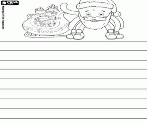 Letter To Santa Coloring Page 26