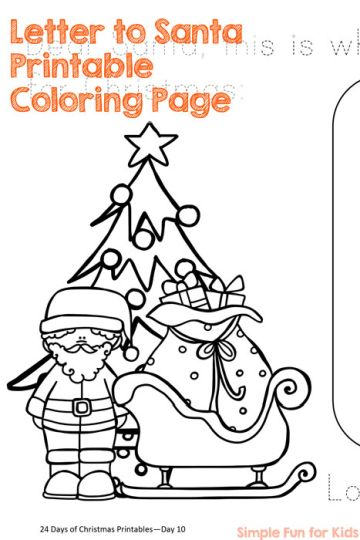 Letter To Santa Coloring Page 30