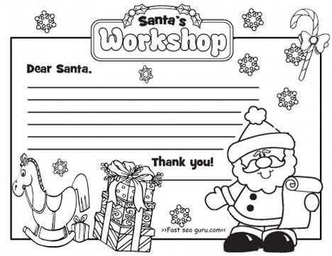 Letter To Santa Coloring Page 32