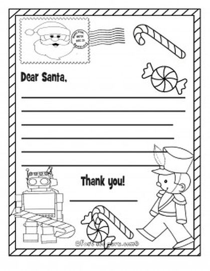 Letter To Santa Coloring Page 33