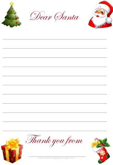 Letter To Santa Coloring Page  Part 4