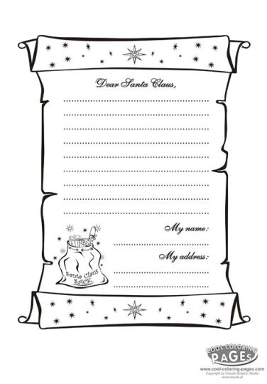 Letter To Santa Coloring Page 37