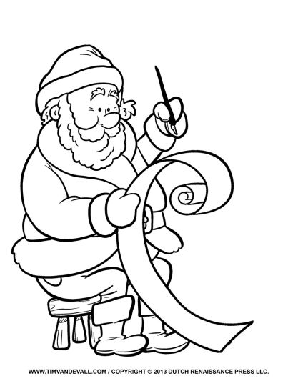 Letter To Santa Coloring Page 38