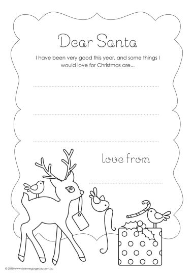 Letter To Santa Coloring Page 40