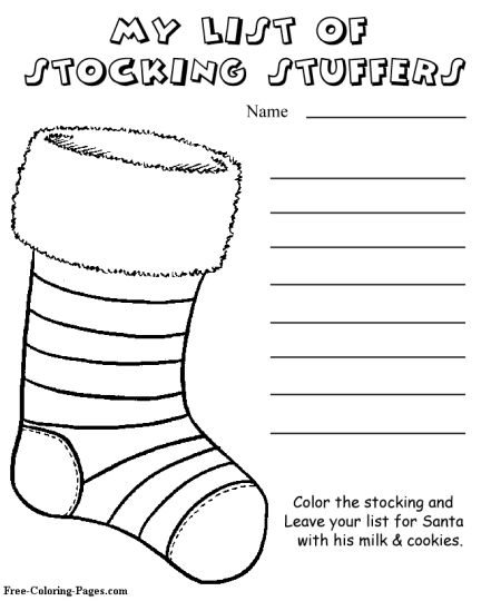 Letter To Santa Coloring Page 43