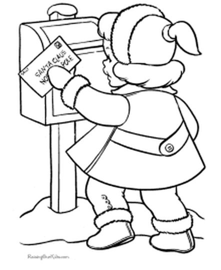 Letter To Santa Coloring Page 48