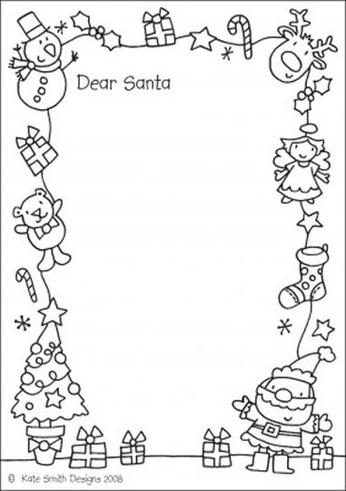Letter To Santa Coloring Page 49