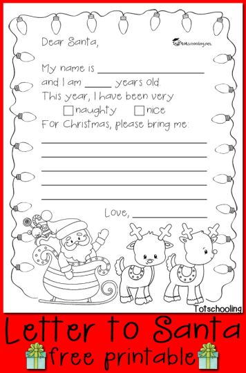 Letter To Santa Coloring Page 6