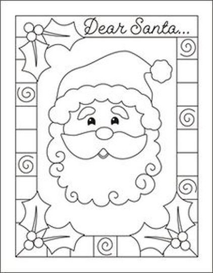 Letter To Santa Coloring Page 8