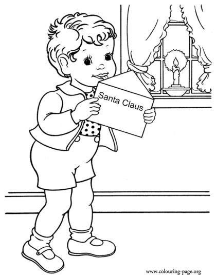 Letter To Santa Coloring Page 9