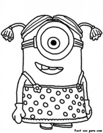 Minion Christmas Coloring Pages 10