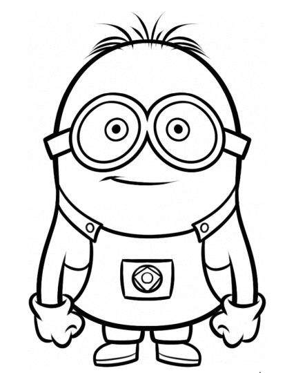 Minion Christmas Coloring Pages 17