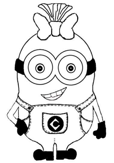 Minion Christmas Coloring Pages 19