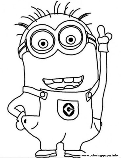 Minion Christmas Coloring Pages 23