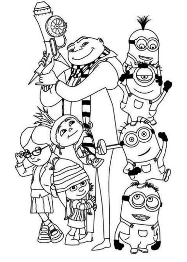 Minion Christmas Coloring Pages - Part 3