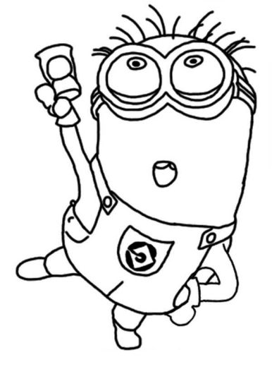 Minion Christmas Coloring Pages 29