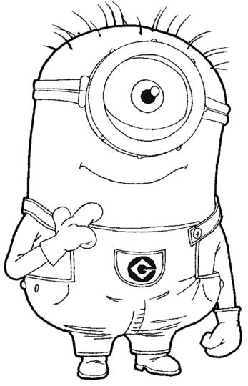 Minion Christmas Coloring Pages 31