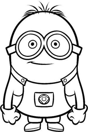 Minion Christmas Coloring Pages Part 4