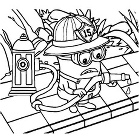 Minion Christmas Coloring Pages 36
