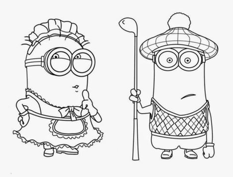 Minion Christmas Coloring Pages 37