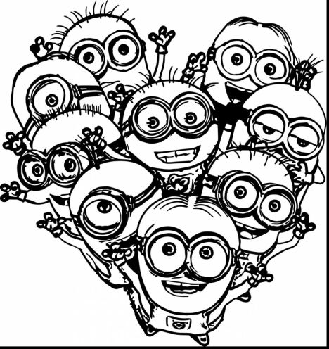 Minion Christmas Coloring Pages 38