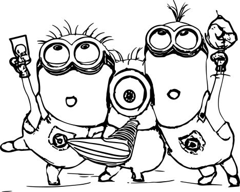 Minion Christmas Coloring Pages 4