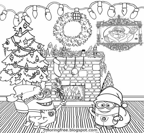 Minion Christmas Coloring Pages 40