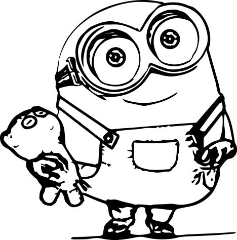 Minion Christmas Coloring Pages 6