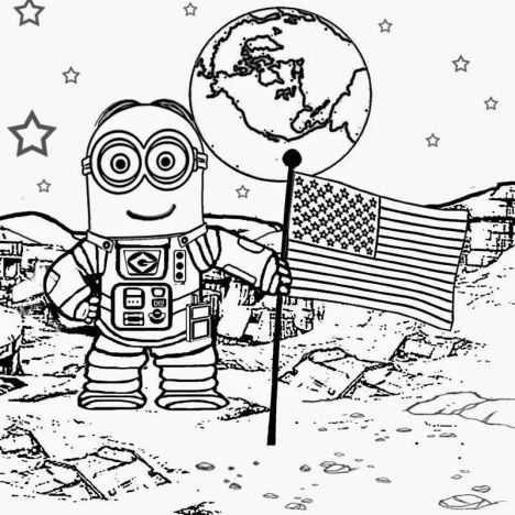 Minion Christmas Coloring Pages 8