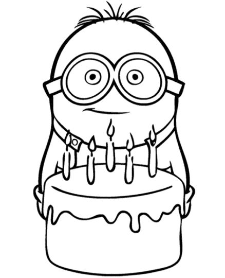 Minion Christmas Coloring Pages 9