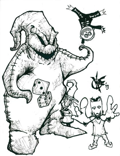 Oogie Boogie Coloring Page 14