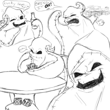 Oogie Boogie Coloring Page 4