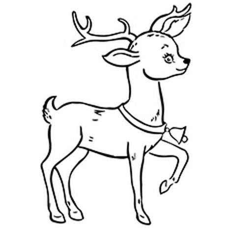 Reindeer Face Coloring Pages 10