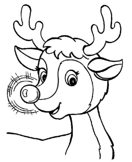 Reindeer Face Coloring Pages 11