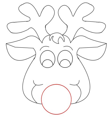 Reindeer Face Coloring Pages 12
