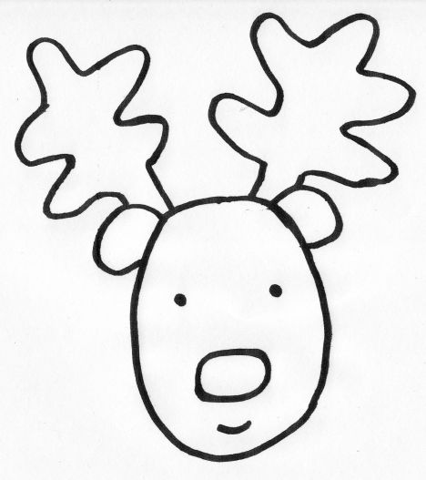Reindeer Face Coloring Pages 15