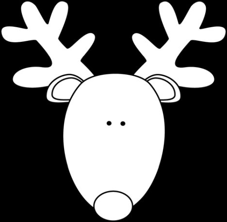 Reindeer Face Coloring Pages 2