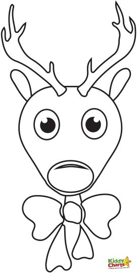 Reindeer Face Coloring Pages 20