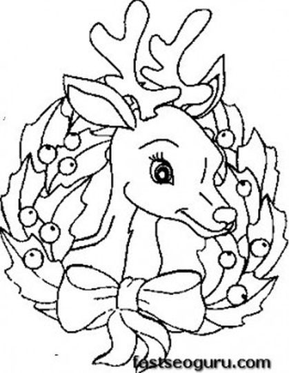 Reindeer Face Coloring Pages 25
