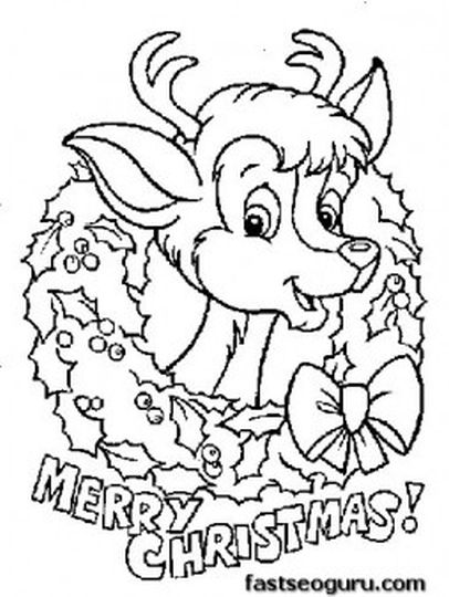 Reindeer Face Coloring Pages 26